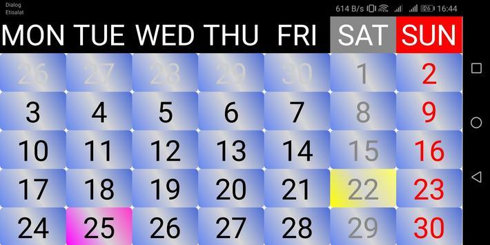 2021 Sinhala Calendar 截圖 8
