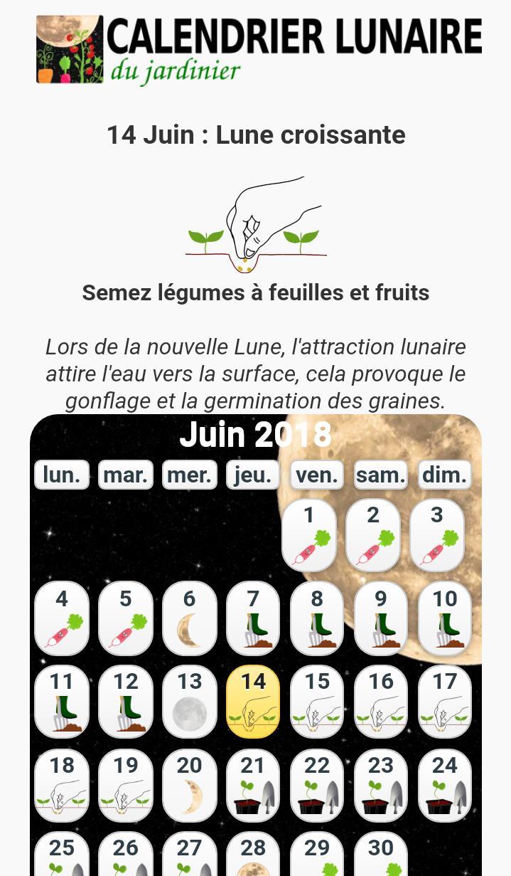 Calendrier Lunaire Du Jardin For Android Apk Download