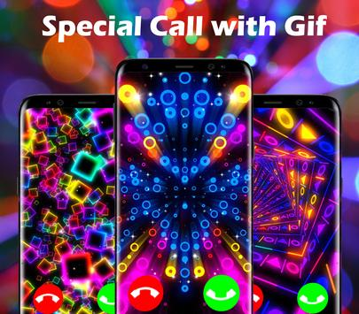Color Flash Launcher - Call Screen Themes poster