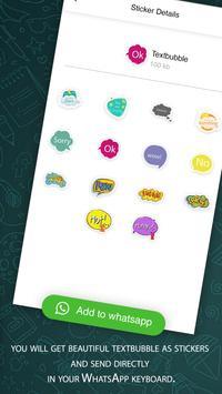 New Text Bubble Sticker For Whatsapp 2019 screenshot 1