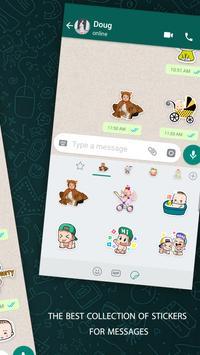 Cute Baby Sticker For Whatsapp Full Pack 2019 screenshot 3