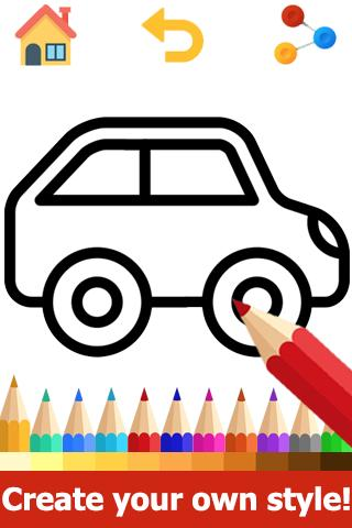 Car Coloring Pages - Car Colouring Games for Android - APK ...