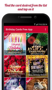 Happy Birthday Cards Free App poster