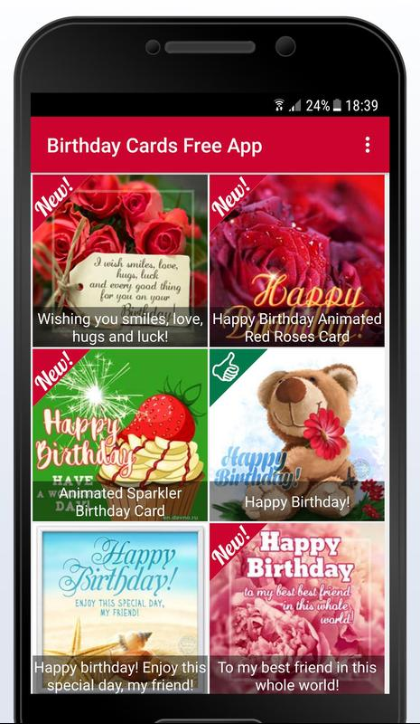Happy Birthday Cards Free App Screenshot 4