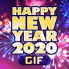 Happy New Year 2020 GIFs simgesi