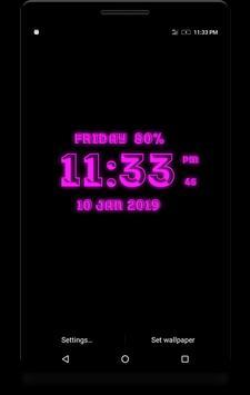 3D Digital Clock screenshot 2