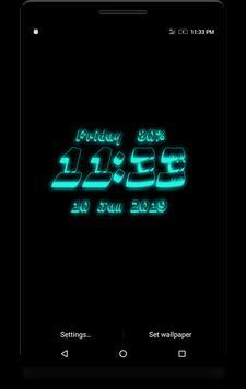 3D Digital Clock screenshot 4