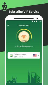Cool VPN Free - Super Smart VPN, Fast VPN Proxy capture d'écran 3
