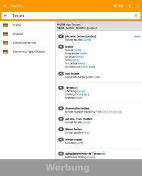 dict.cc Ekran Görüntüsü 7