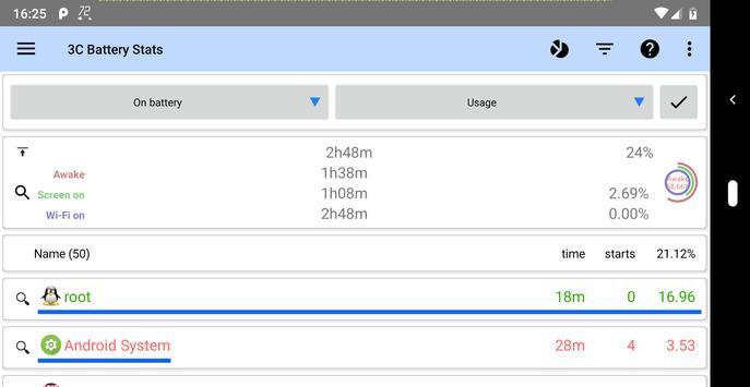 3C Legacy Battery Stats screenshot 1