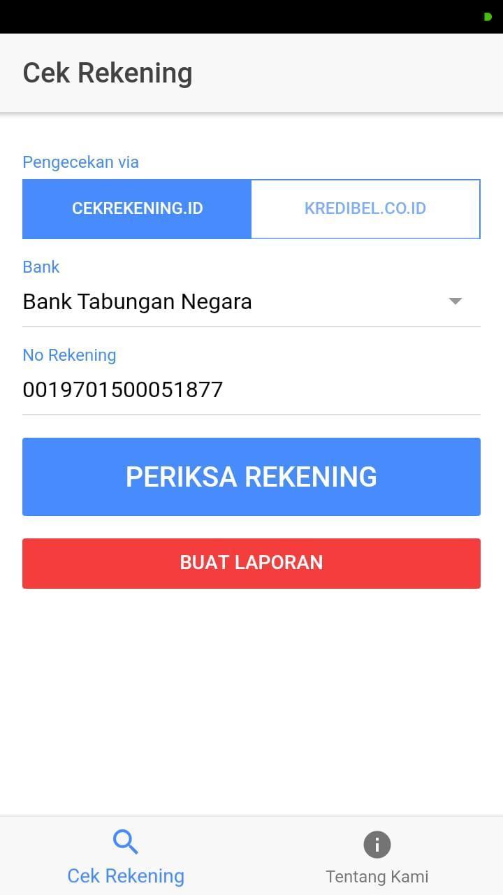 Cek Rekening For Android Apk Download