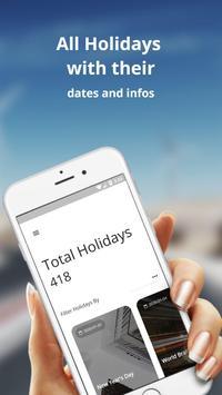 Chad Holidays : N'Djamena Calendar screenshot 1