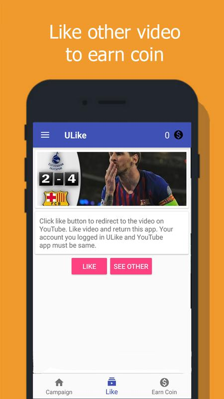 ULike - Like4Like - get likes and view for video for Android