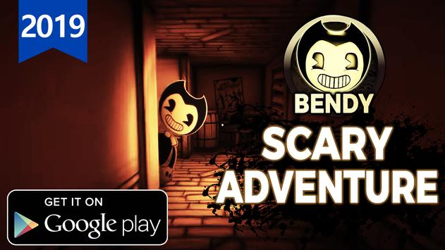 Hello scary Bendy vs Ink Super Machine poster