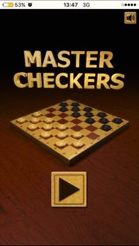 Checkers Draughts - board game poster