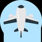 Cheap international flight tickets icon