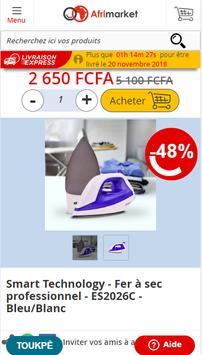 Shopping en ligne :  Afrimarket Côte d'Ivoire screenshot 2