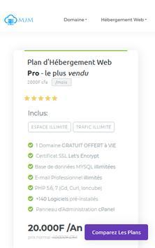 www.MJM.ci Leader Nom De Domaine & Hébergement Web screenshot 2
