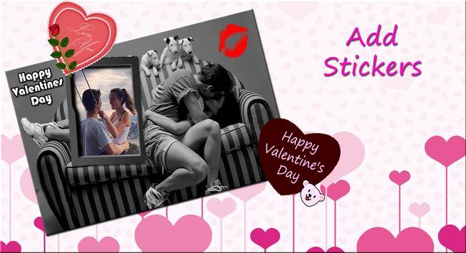 Valentine Photo Frame: Valentine Photo Editor screenshot 1