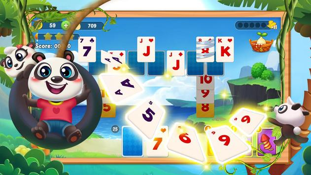 Klassischer Solitaire Panda Screenshot 2