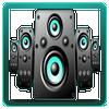 Altavoz amplificador lite icono