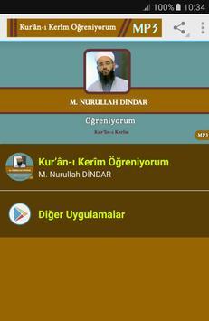 kuranı kerim Öğreniyorum Mp3 Nurullah DİNDAR poster