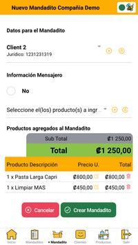 Mandaditos screenshot 1