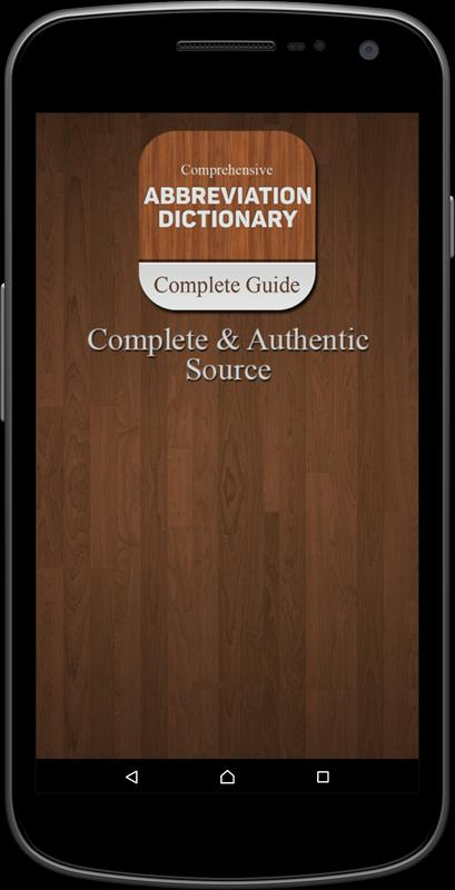 Abbreviation Dictionary For Android