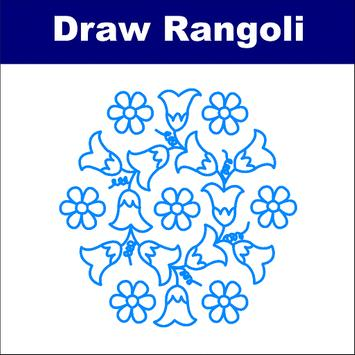 How to Draw Rangoli - Step by Step poster