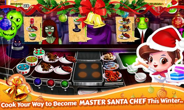 Santa Restaurant Game Memasak screenshot 9