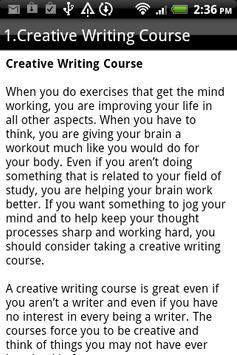 CREATIVE WRITING screenshot 2