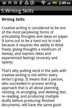 CREATIVE WRITING screenshot 5