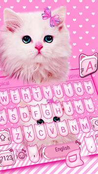 Cute Pink Bow Kitty poster