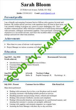 CV Samples screenshot 1