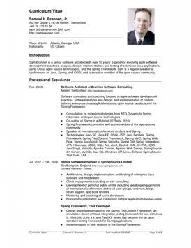 CV Samples screenshot 2
