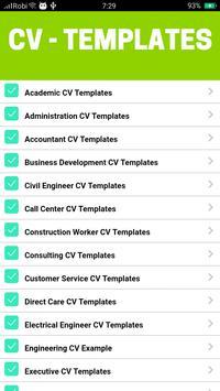 CV Templates imagem de tela 5