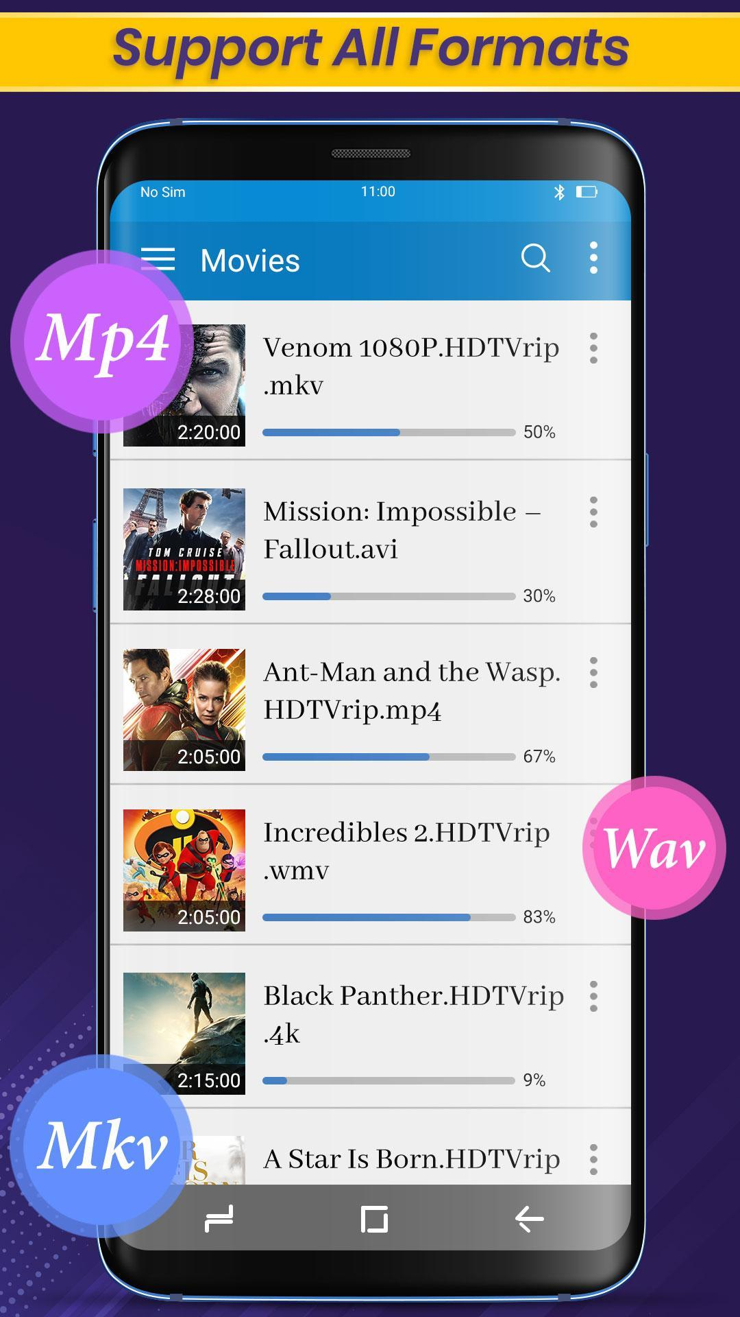 Video player - Music Player & km player video app for