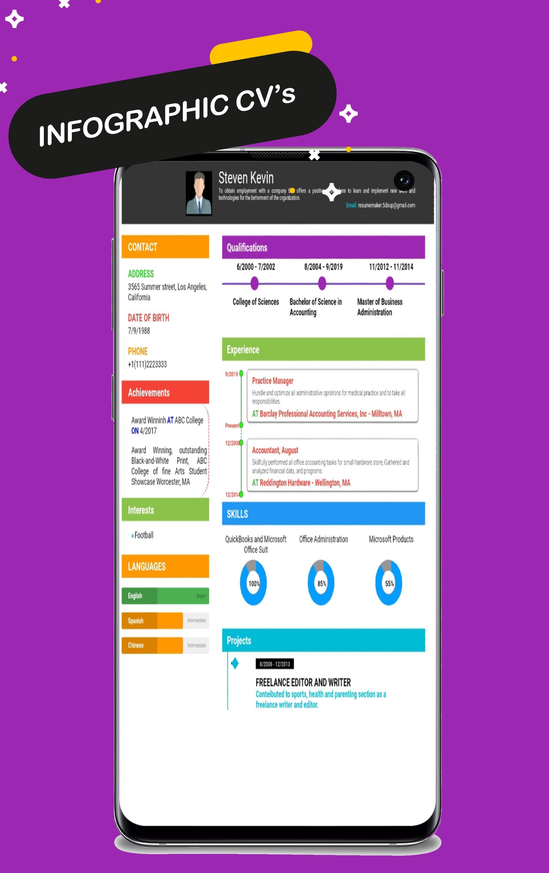 Free Resume Maker Cv Maker Templates Formats App For Android Apk
