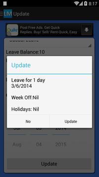 Leave Manager screenshot 3