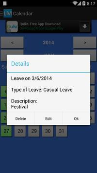 Leave Manager screenshot 4