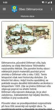 Obec Dětmarovice screenshot 3
