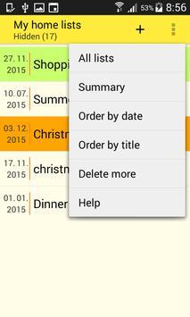 Home Lists screenshot 1