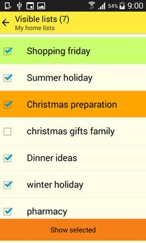 Home Lists screenshot 2