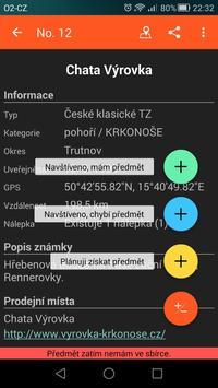 Turistické Známky captura de pantalla 4