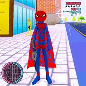 Amazing Spider Stickman Rope Hero Superheroe Crime icon