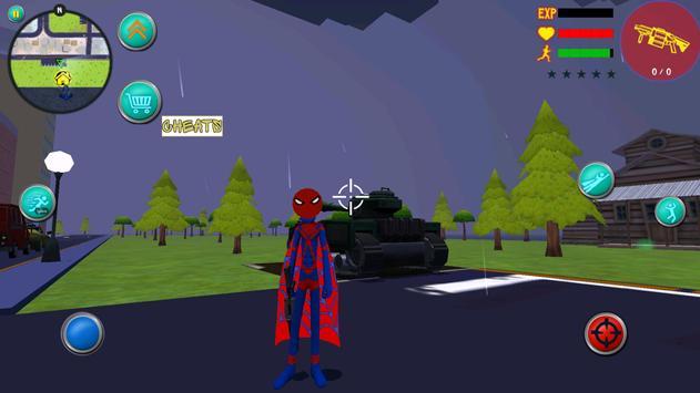 Amazing Spider Stickman Rope Hero Superheroe Crime screenshot 3