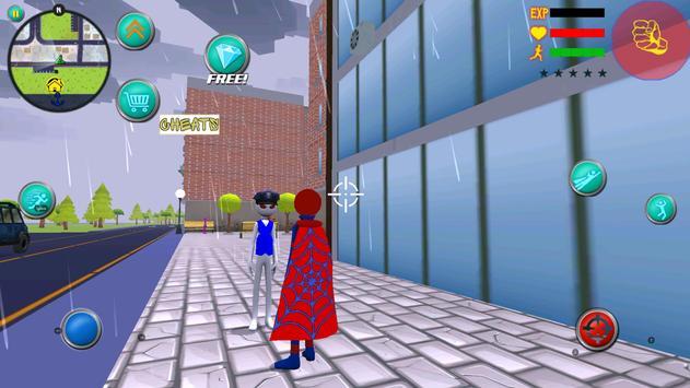 Amazing Spider Stickman Rope Hero Superheroe Crime screenshot 2