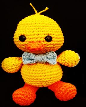 How to knit AMIGURUMI step by step poster