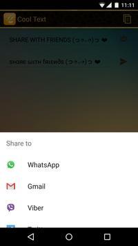 Cool Text - Floating Widget screenshot 3