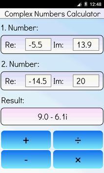 Complex Numbers Calculator screenshot 3